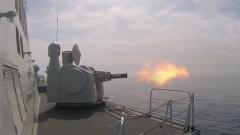 單艦前出!蕪湖艦開展全要素實彈射擊訓練