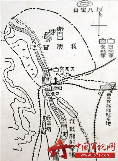 手绘军事作战地图