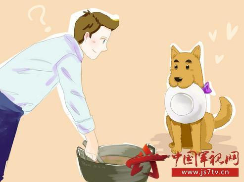 狗食盆  卡通 素材