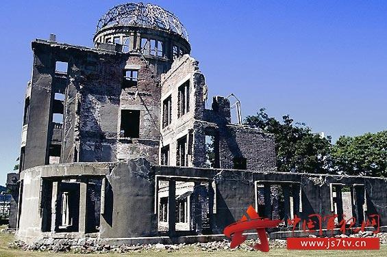 资料图:广岛和平纪念公园里核爆后留下的建筑