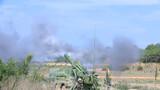 阵地榴弹炮发射