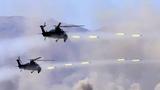 中方武装直升机对敌前沿连续打击。张建平 摄