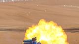 某型坦克实弹射击瞬间