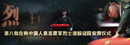 第八批在韩中国人民志愿军烈士遗骸迎回安葬仪式