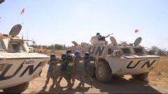 中国第16批赴苏丹维和工兵分队开展全员全装机动防卫演练