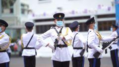 香港五大紀律部隊展示中式隊列
