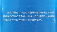 國防部:哪里有危險,哪里就有中國藍盔的身影