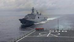 节日 我们在战位上丨互为攻防 舰艇编队多课目对抗演练