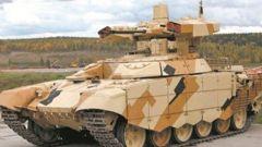 """俄罗斯""""终结者""""坦克火力支援车——  坦克""""保镖""""很强悍"""