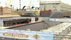 """""""喀山""""号入列俄北方舰队 为全球首艘高超音速导弹核潜艇"""