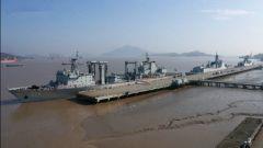 中国海军第38批护航编队从舟山启航
