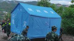 云南漾濞:武警官兵持续搭建救灾帐篷