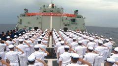 中国海军第38批护航编队举行宣誓签名仪式