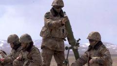 新疆军区某合成团:雪域高原开展迫击炮实弹射击考核