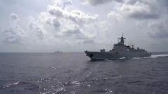【直击演训场】东海某海域 多型舰艇实兵实弹演练