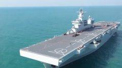 【直擊演訓場】記者探訪海南艦 目擊直升機起降訓練