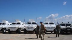 中國赴黎巴嫩維和工兵分隊通過聯黎團裝備核查