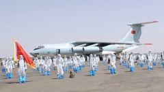 中國第16批赴蘇丹維和工兵分隊第一梯隊回國