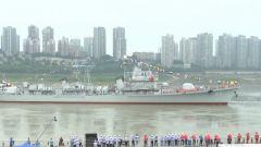 """海軍退役軍艦珠海艦正式""""安家""""重慶"""