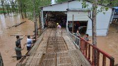 堵截洪流 保护村庄:河南郏县民兵洪水面前有担当